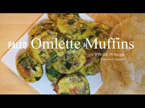 Paleo Omelette Muffins  I  NiKesha Harden
