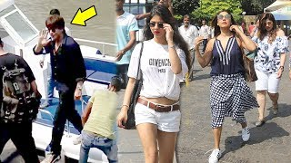 Shahrukh Khan With Daughter Suhana & Wife Gauri Leave For Alibaug To Celebrate Birthday 2017