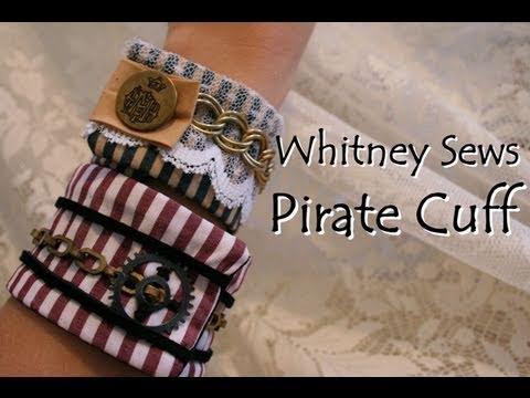 Pirate Steampunk Fabric Cuff- Whitney Sews
