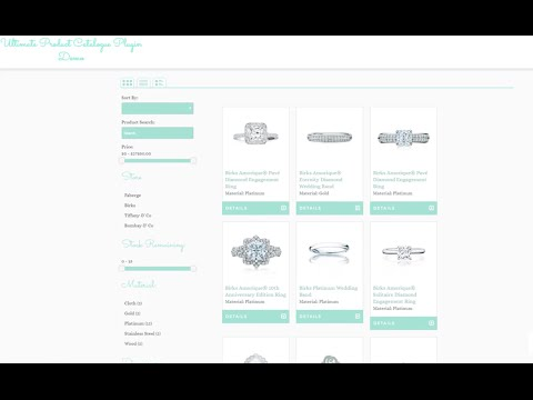 Product Catalog - WordPress Plugin