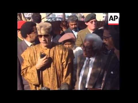 SOUTH AFRICA: GADHAFI VISITS SOWETO TOWNSHIP