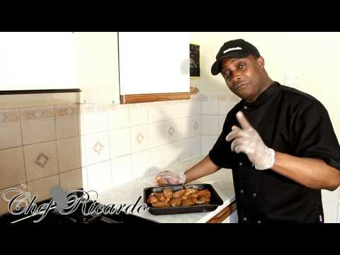Caribbean Sunday Baked Chicken Served With Rice & Veg | Recipes By Chef Ricardo