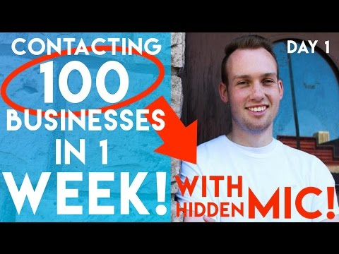 Social Media Marketing Clients Challenge! Contact 100 Businesses in 1 Week: Day 1