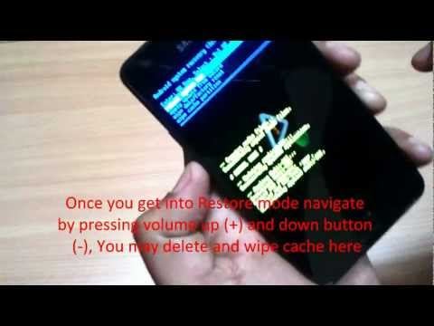 Get Android into Restore Mode and Wipe Cache in Samsung Galaxy S2