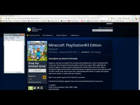 [LIMITED OFFER][FIRST VIDEO] How To Download Minecraft PS3 Edition Free (Jailbreak Isn't Required)