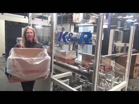 K & R Automatic Case Erector and Bag Inserter Demonstration