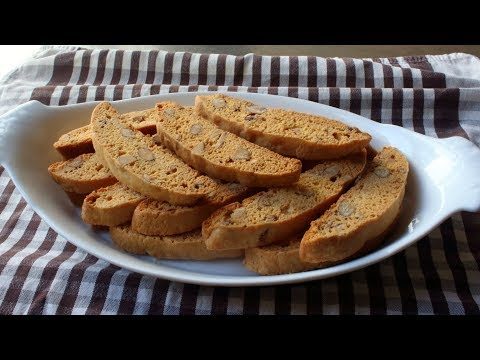 Almond Biscotti - How to Make Biscotti - Crunchy Italian Dipping Cookies
