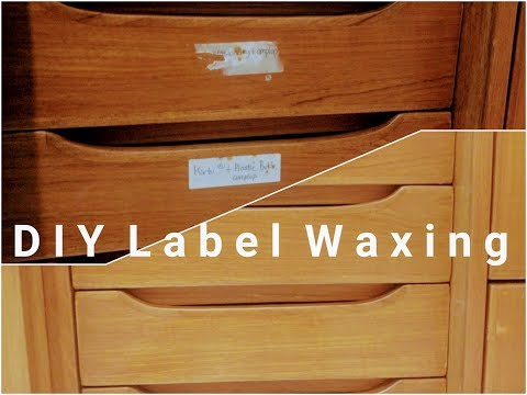 DIY Waxing Labels & Restore Vintage Furniture