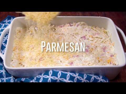Ham & Cheese Hashbrown Casserole