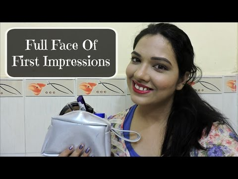 Full Face of First Impressions   Maybelline, Rimmel, Wet n Wild, Loreal, Faces   beautywithsneha