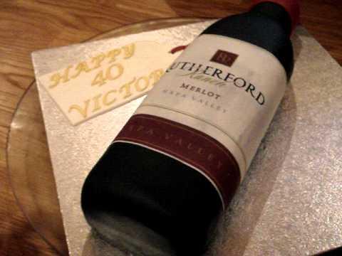 bottle shaped  birthday cake