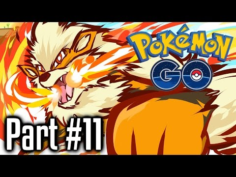 Pokemon GO ★ Walkthrough Gameplay Part 11 ★ CRAZY GROWLITHE NEST!!! & #SaveTheCat