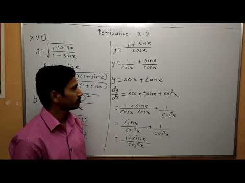 Differentiation Part 3 Exercise 2.2 Derivative Maharashtra Board Maths Class 12