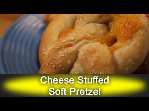 Cheese Stuffed Soft Pretzel - Ready, Set, Flambé