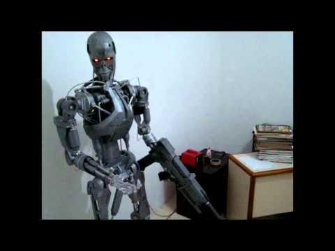 Terminator robot animatronic modeloT-800 finalizado