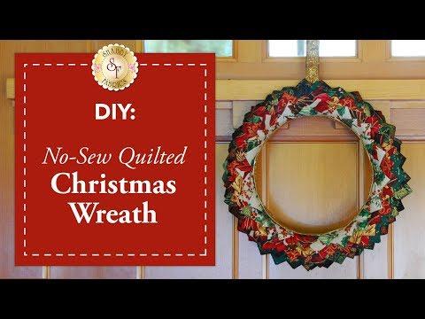 DIY No-Sew Quilted Christmas Wreath   a Shabby Fabrics DIY Craft Tutorial