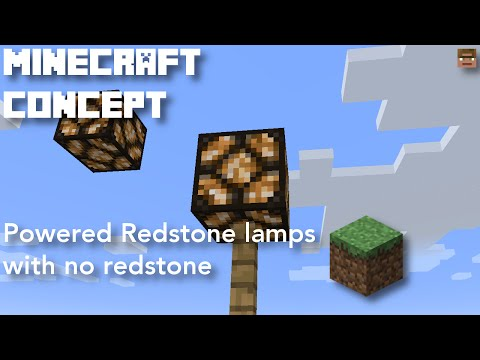 Powered Redstone lamps with no redstone | Minecraft concept [Creative mode]