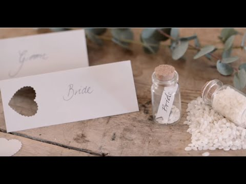 DIY: Place cards and wedding table decorations by Søstrene Grene