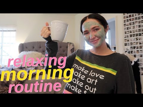 relaxing morning routine   vlog style morning routine