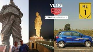 Driving on Ahmedabad–Vadodara Expressway NE 1 on Ford Ecosport