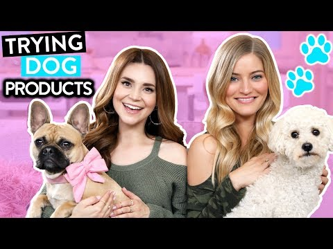 TRYING FUN DOG PRODUCTS w/ iJustine!
