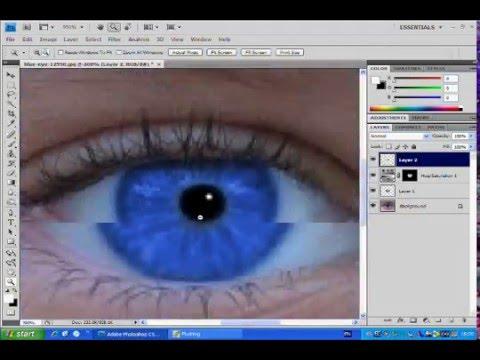 Photoshop CS4 | Making Eyes Look Brighter
