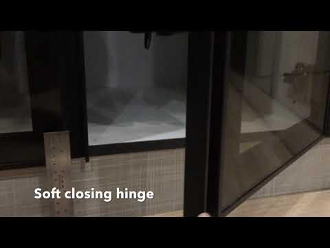 Effect of soft closing hinge on cabinet door