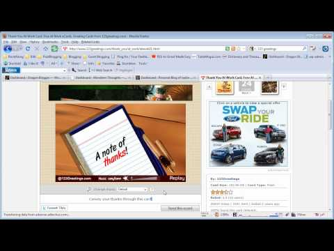 Video on How to Send Free eCard with 123 Greetings
