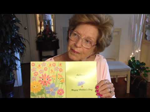 Mom's 2018 singing Mother's Day card