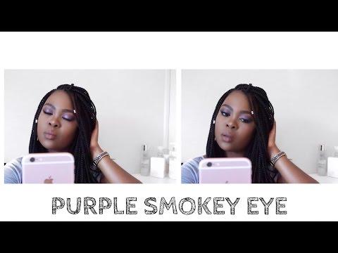 Purple Smokey Eye | Make up tutorial | Christine Gama | South African Youtuber