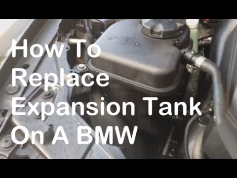 How To Remove and Replace Coolant Expansion Tank on BMW 335i