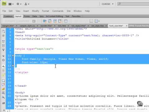 HTML 4 Html 5 11 Formatting Text Font Size