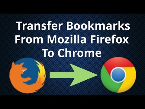 How To Import And Transfer Bookmarks From Mozilla Firefox to Chrome