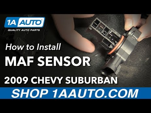 How to Install Replace Mass Air Flow MAF Sensor 2009-12 Chevy Suburban