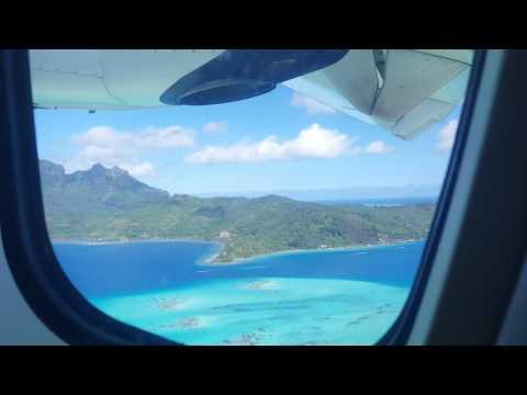 Flight from Bora Bora to Moorea