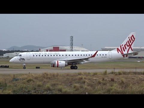 Virgin Australia Embraer E190 [VH-ZPH]   FINAL Commercial Takeoff & Landing   Brisbane Airport