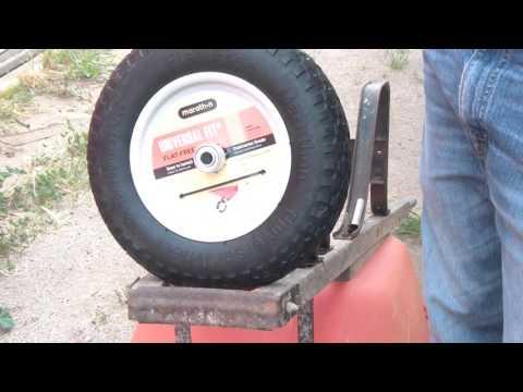 How to change a wheelbarrow tire