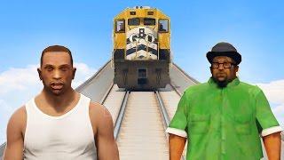 CAN CJ & BIG SMOKE STOP THE DAMN TRAIN IN GTA 5?