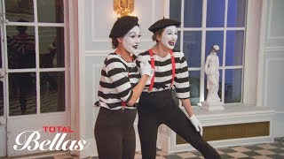 Brie and Lauren perform as mimes during Nikki