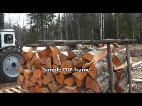 Simple DIY portable firewood rack