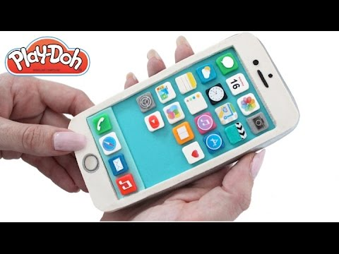 Play Doh How to Make a Play-Doh iPhone Mobile Phone DIY RainbowLearning