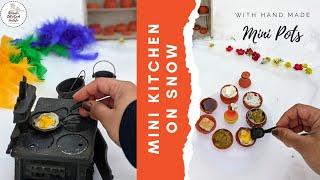 Picnic On Snowland With Mini Clay Pots   Mini Kitchen   Houston Snow 2021   Handmade Mini Pottery