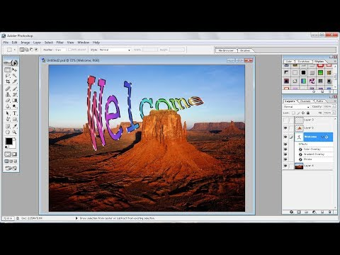 Photoshop tutorials |How to Create Your Own Text Effects Behind a Photo Object in Photoshop