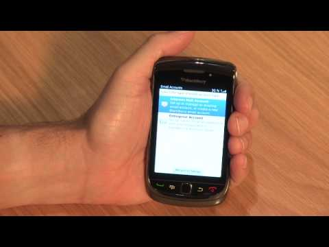 Setting up your email with the BlackBerry Torch