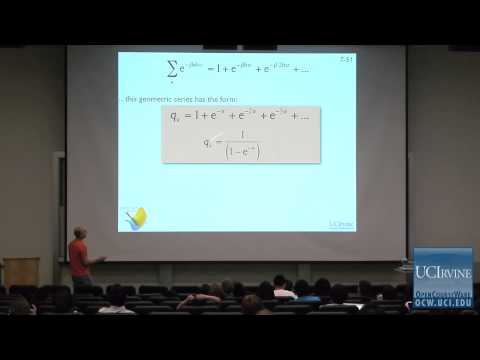 Thermodynamics and Chemical Dynamics 131C. Lecture 07. Vibrational Partition Functions.