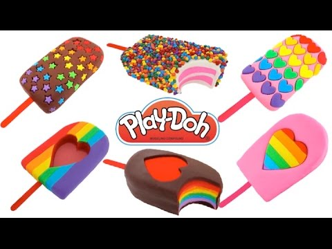 How to Make Play-Doh Ice Cream Popsicles * Creative Fun for Kids * Play Dough Art * RainbowLearning