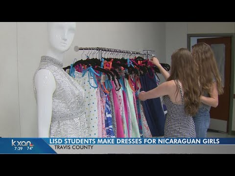 Local students sending dresses made from pillowcases to Nicaragua