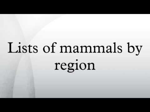 Lists of mammals by region