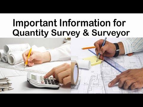 Important information for quantity survey | Quantity surveyor must remember |