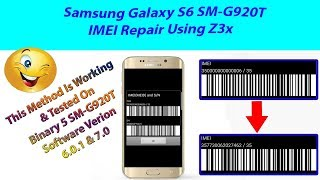 How to repair imei of S6 SM-G920T (imei is 3500000000006 fix)step by